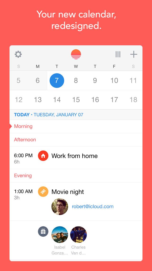 Sunrise Calendar - An Outlook App screenshot 1