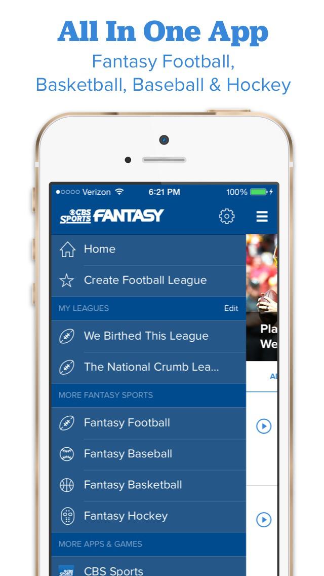 CBS Sports Fantasy screenshot 2