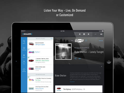 SiriusXM-Music, Comedy, Sports screenshot 6