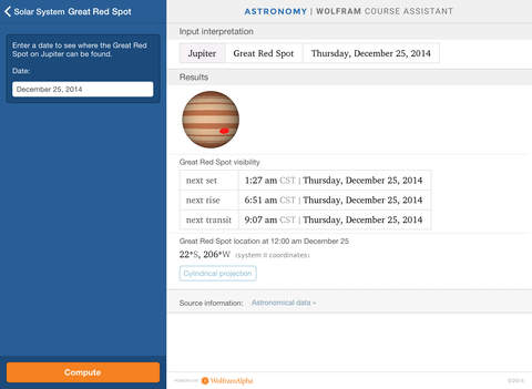 Wolfram Astronomy Course Assistant screenshot 9