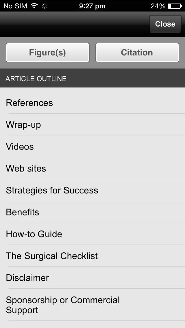 AORN Journal screenshot 2