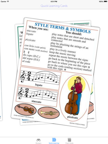 Musical Quick-Learn Term & Flashcard: Image and Video illustrations with interesting facts sheet screenshot 8