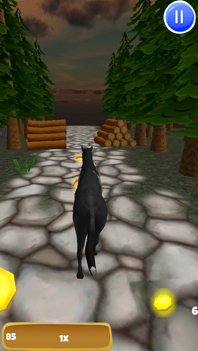 A Black Stallion: 3D Horsey Running Game - Pro Edition screenshot 3