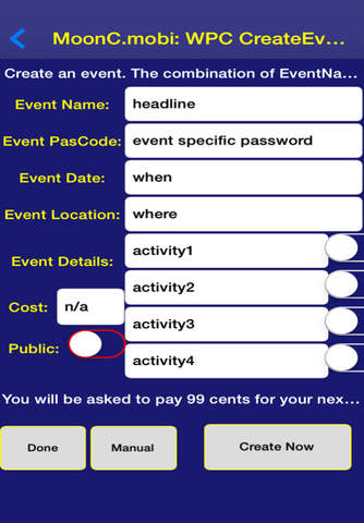 WannaPubCrawl Event Organizer - náhled