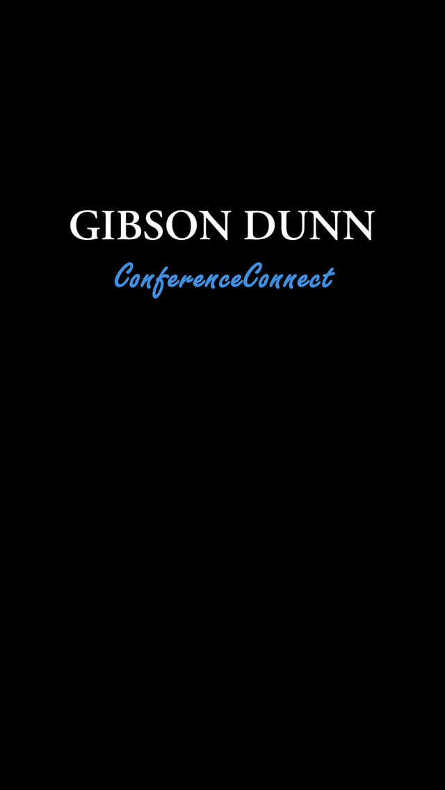 Gibson Dunn ConferenceConnect screenshot 1