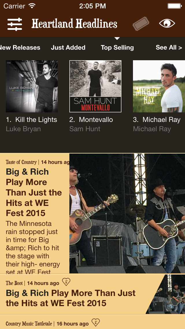 Heartland Headlines - Country Music News, New Music Releases, and Concert Tickets screenshot #2