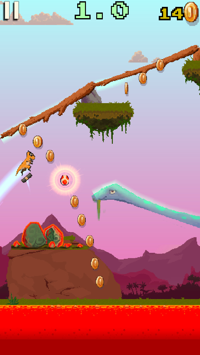 Dino Skater screenshot 2