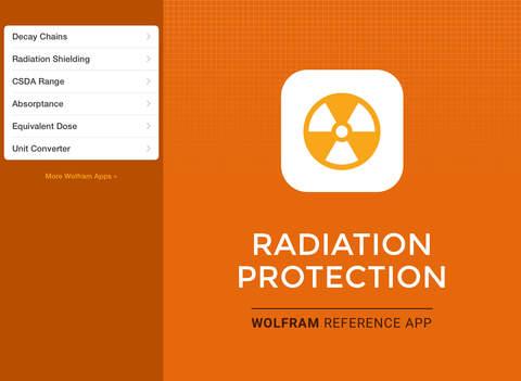 Wolfram Radiation Protection Reference App screenshot 6