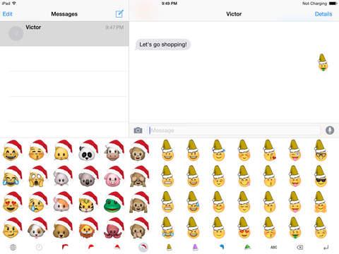 Christmas Emoji Keyboard Pro screenshot 5