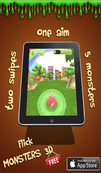 Flick Monster 3D screenshot 1