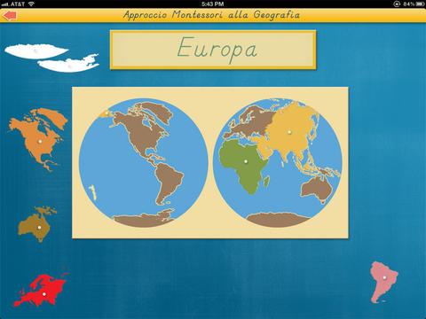 I continenti del mondo - Approccio Montessori alla Geografia screenshot 4