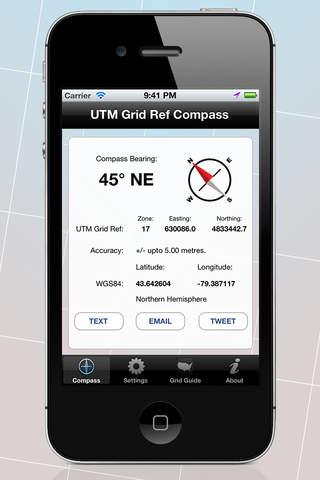 UTM Grid Ref Compass - náhled