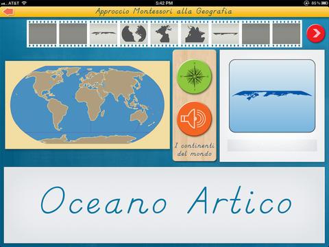 I continenti del mondo - Approccio Montessori alla Geografia screenshot 3