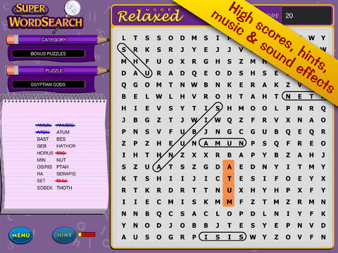 Super Word Search! - Seek and Find Puzzles screenshot 2