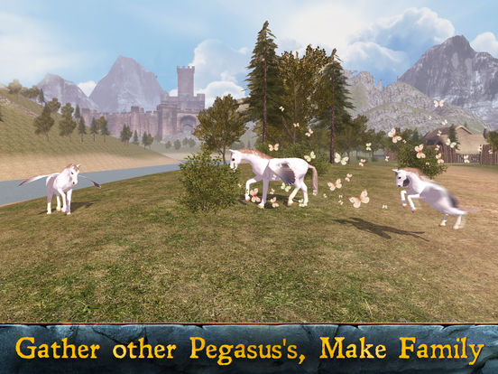 Flying Pegasus: Magic Horse Simulator 3D screenshot 5