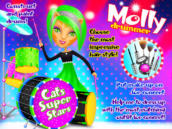 Crazy Cats Super Stars - Animal Pop Music Band Hair & Style Makeover screenshot 7