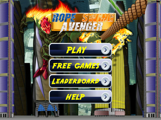 Rope Swing Avenger - Fun Fly Flames Till Dawn screenshot 6