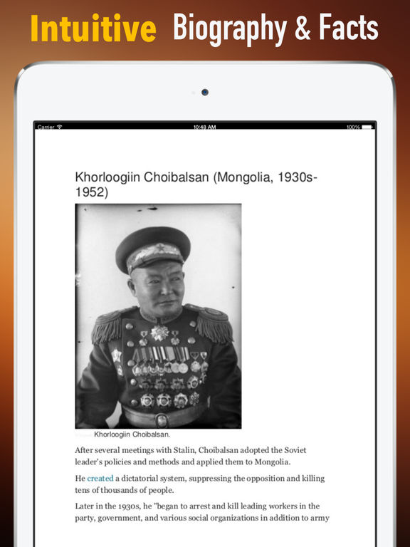 Biography and Quotes for Khorloogiin Choibalsan: Life with Documentary screenshot 6
