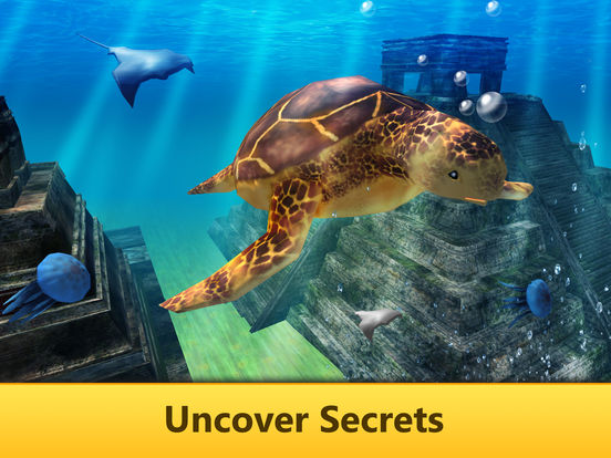 Ocean Turtle Simulator: Animal Quest 3D screenshot 6