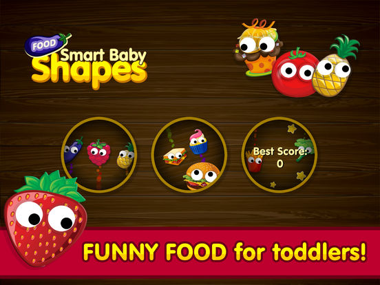 Smart Baby Shapes FOOD: Fun Jigsaw Puzzles and Learning Games for toddlers & little kids screenshot 6