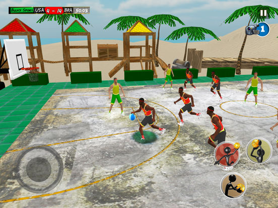 Beach Basketball 2k17: NBA slam dunk hoops trainer screenshot 9