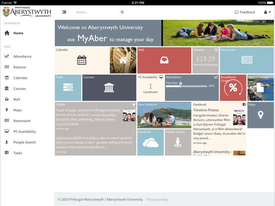 Aberystwyth University screenshot 6