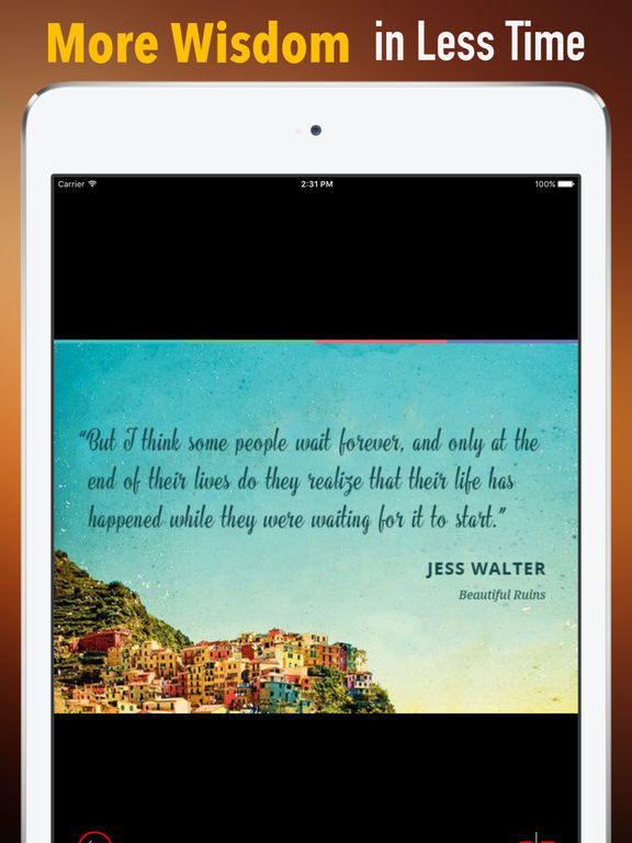 Quick Wisdom from Beautiful Ruins: A Novel screenshot 6