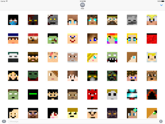 Craft Faces 300+ for iMessage screenshot 4