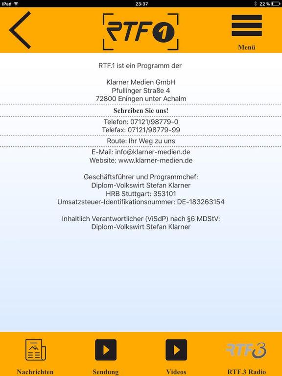 RTF.1 Regionalfernsehen screenshot 9
