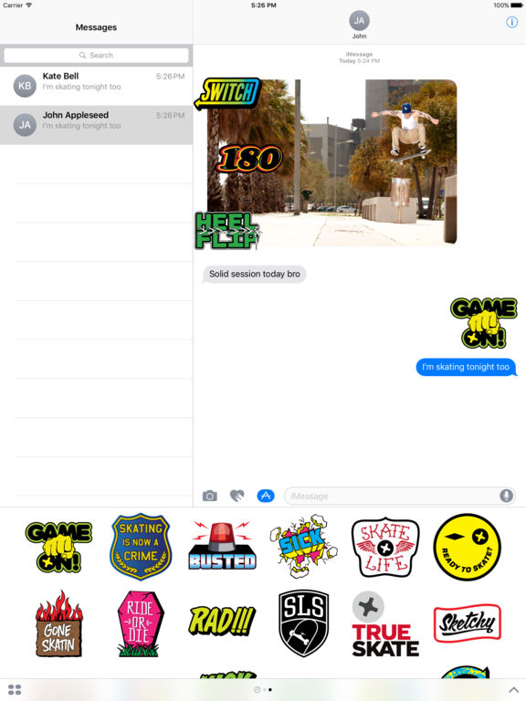 True Skate Stickers screenshot 6