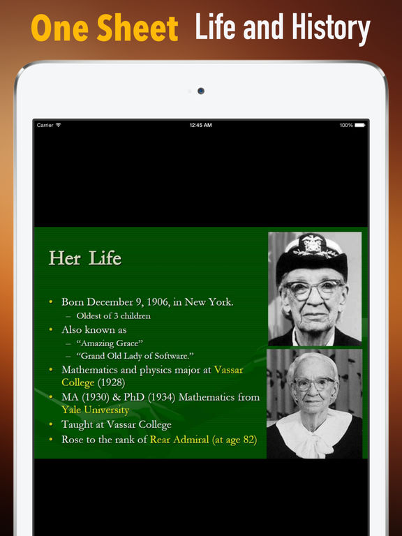 Biography and Quotes for Grace Hopper: Life with Documentary screenshot 7