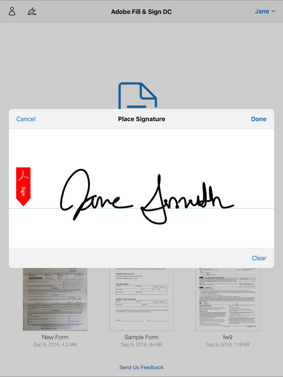 adobe fill sign pdf ios android