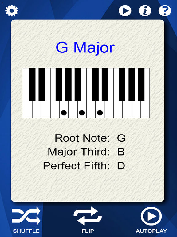 Piano visual piano chords : Piano Chords Flash Cards on the App Store