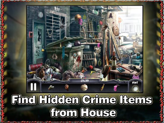 Crime Mystery Hidden Object Game - The Secret Detective Case - Solve Mysteries and Stop Criminals screenshot 9