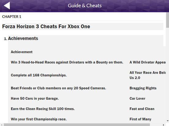GreatApp for Forza Horizon 3: Cheats | Apps | 148Apps