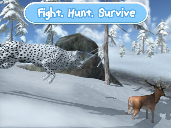 Wild Snow Leopard: Animal Simulator screenshot 6
