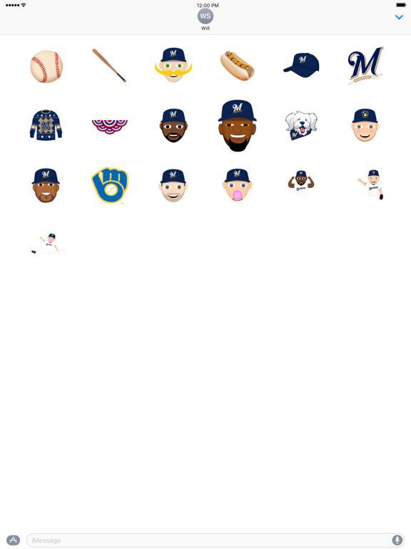 Milwaukee Brewers 2016 MLB Sticker Pack screenshot 3