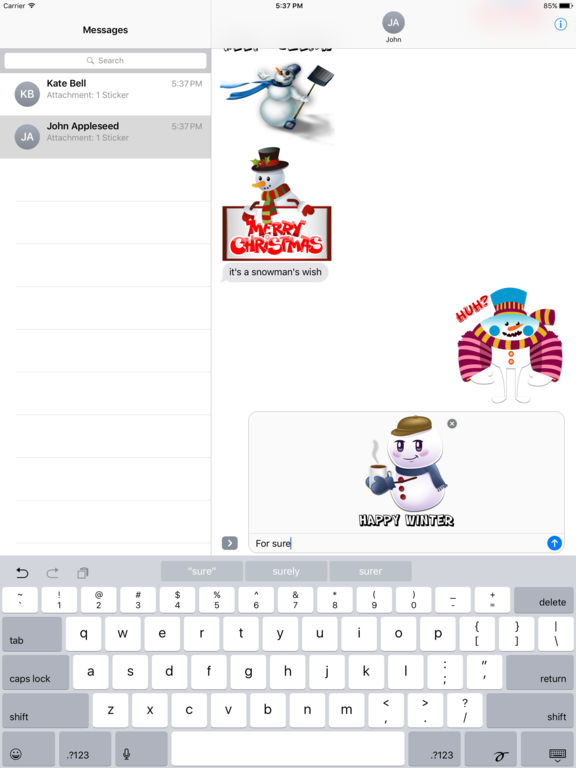 Funny Snowman Stickers screenshot 6