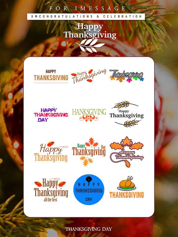 Thanksgiving Day Emoji Pro - Holiday Stickers screenshot 7