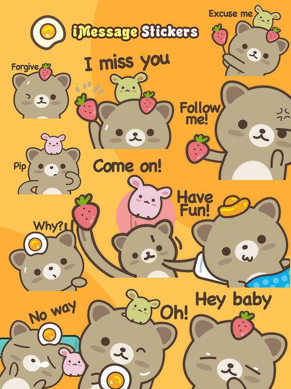 Strawberry Cat - Cute Stickers by NICE Sticker screenshot 10
