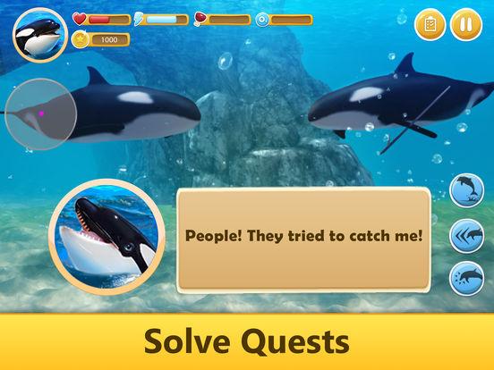 Ocean Whale Orca Simulator: Animal Quest 3D screenshot 8