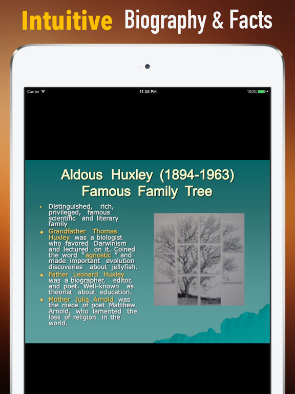 Biography and Quotes for Aldous Huxley screenshot 6