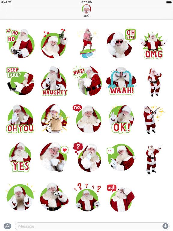 Just BeClaus - Animated Christmas Santa Stickers screenshot 6