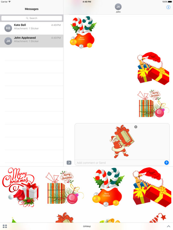 Christmas Gifts - Stickers for iMessage screenshot 5