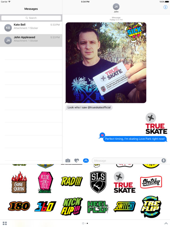 True Skate Stickers screenshot 7