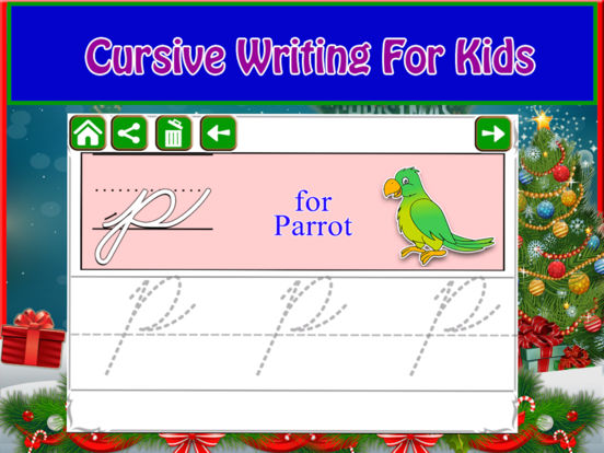Alphabet Tracing Cursive & Numbers Christmas Game screenshot 7