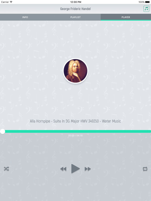 George Handel - Classical Music Full screenshot 8