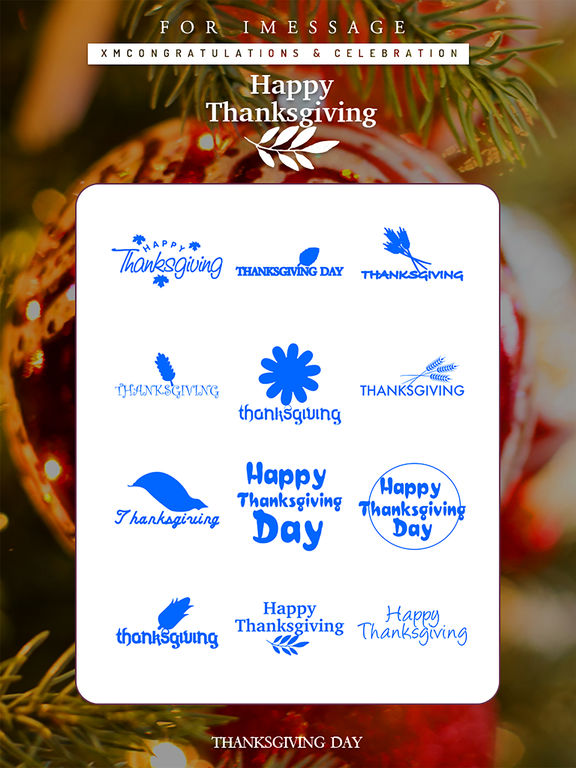 Thanksgiving Day Emoji Pro - Holiday Stickers screenshot 8