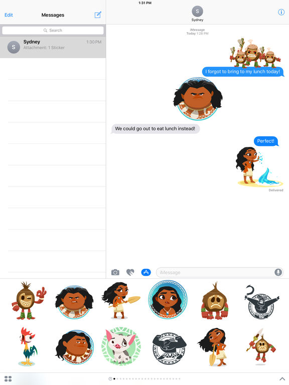 Disney Stickers: Moana screenshot 9