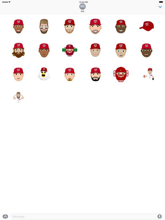 Washington Nationals 2016 MLB Sticker Pack screenshot 3